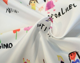 Twill fabric childrens drawings #002