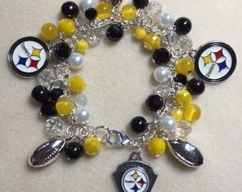 Pittsburgh Steelers Charm Jingle Bracelet