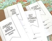 2016 - SAVE on a Bundle of 4 - MONTHLY/WEEKLY Dated Quarterly Calendars - Available in 5 sizes