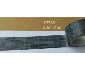 Black brick wall Washi Tape/Japanese Washi Tape / Deco tape TZ881
