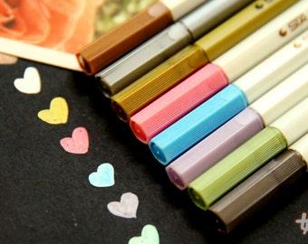 Sta Metallic Pen (10 Colors Lot) Paint Marker For card Design Watercolor Marker Scrapbooking Decoration TZ101