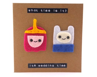 Adventure Time wedding card - Princess Bubblegum Anniversary Card