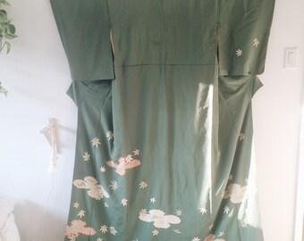 authentic geiko hikizuri susohiki kimono