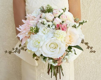 Wedding Bouquet, Bridal Bouquet, Bridesmaid Bouquet, Silk Flower Bouquet, Wedding Flowers, Silk Bouquet, Wedding Package, Flower Bouquet