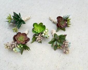 Boutonierre, Floral Boutonierre, Succulent Boutonierre