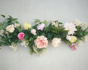 Flower Garland, Silk Flower Garland, Table Runner, Wedding Garland, Table Runner, Centerpiece, Reception Flowers, Wedding Flowers
