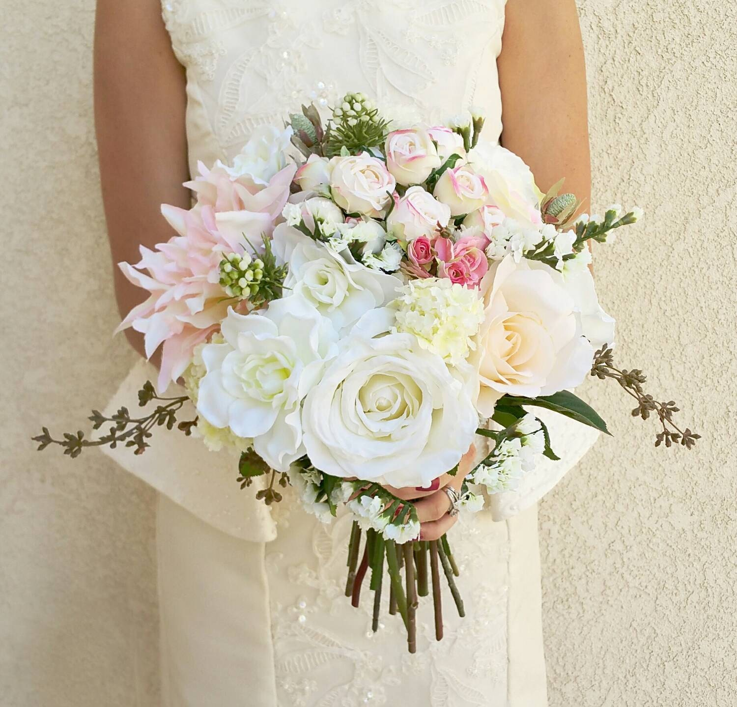Wedding bouquet silk flower bouquet wedding flowers for Best flowers for wedding bouquet