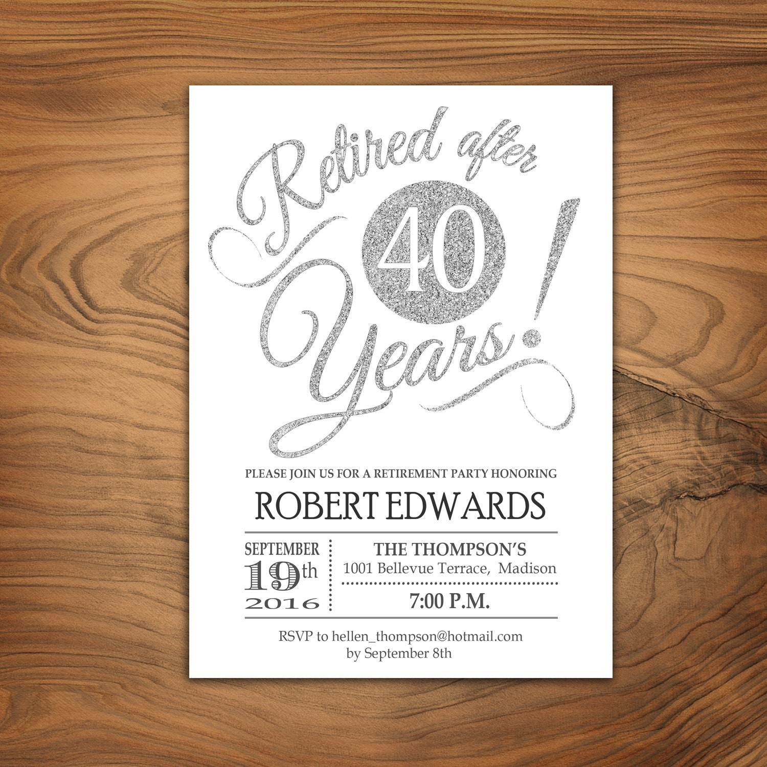 It is an image of Influential Free Printable Retirement Party Invitations