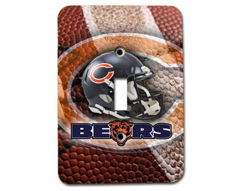 Chicago BearsMetal Light Switch Plate / Single Toggle / Unique Football Fan Great Gift Idea / LIGHTSWCOV905
