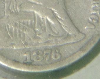 1876 P Seated Liberty Dime