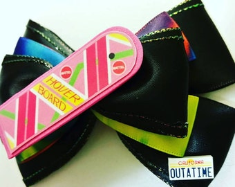 Outatime, BTF inspired, Future bow, Hair Bows, Nerdy hairbows , Geeky accessories, Time Traveler