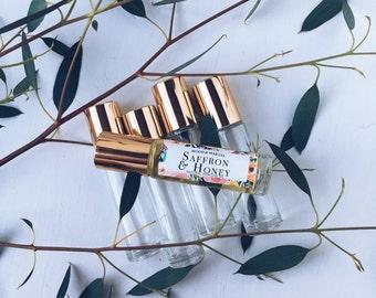 SAFFRON & HONEY Natural Roll-On Perfume | Natural Perfume