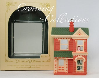 1984 Hallmark Victorian Dollhouse Ornament Keepsake 1st in Nostalgic Houses and Shops Series in box #1 Pink Doll House Vintage Christmas