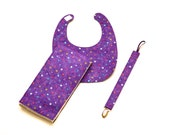 Handmade Gift Pack Featuring  a Bib, Burp Cloth and Pacifier Leash