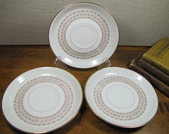 Vintage Narumi China - Saucers - Made in Occupied Japan - Set of Three (3)