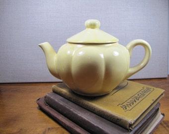 Vintage Yellow Ceramic Teapot