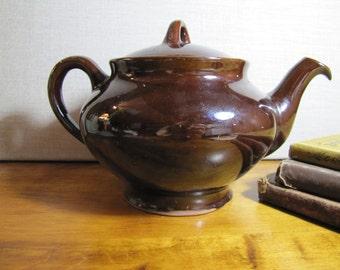 Royal Canadian Pottery - Dark Brown Glaze - Large Teapot - Pottery
