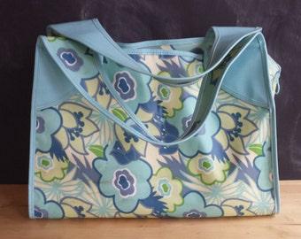 Floral Bag Plastic Coated Fabric Bag