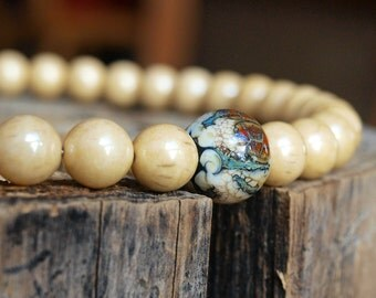 Lampwork beads necklace, lampwork beads