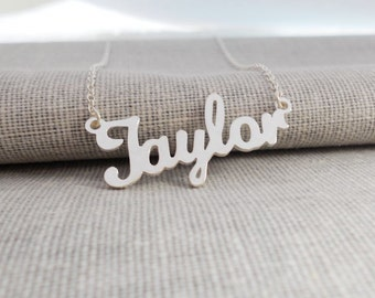 Name Necklace Silver, Script Name Necklace ,Any Name Necklace,Personalized Name Pendant,Custom Name Necklace,Taylor Name Necklace,Best Gift