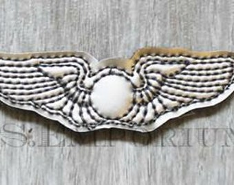 Aviator Pilot Pin Feltie Machine Embroidery Design
