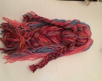 mermaid yarn doll