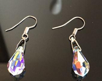 Gorgeous Set Aurorus Borealis Crystal Wire Earrings