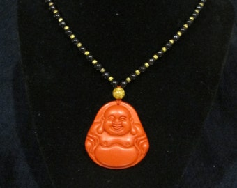 Hand Crafted Laughing Buddha Pendant/Necklace Beads