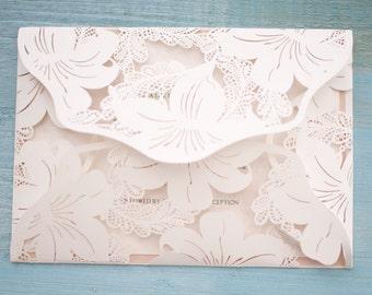 Lasercut Floral Invitation
