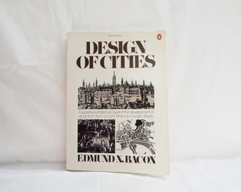 Design Of Cities OVERSIZE Paperback Book, by Edmund N Bacon.