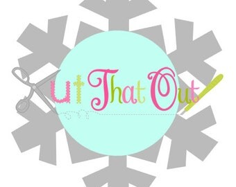 Snowflake Monogram SVG file