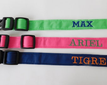 Personalized Dog Collar Add-on, Custom Dog Collar, Embroidered Dog Collar, Name Dog Collar, Must Be Purchased with a Collar