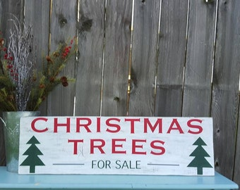 Items Similar To Christmas Trees For Sale Vintage Holiday ...