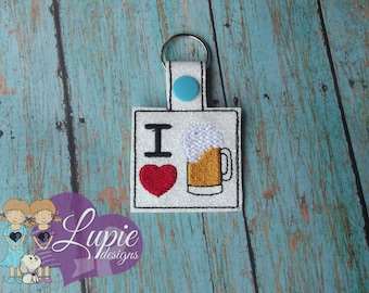 I love Beer Keychain