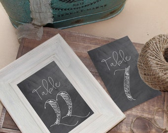 PDF Download Chalk Table Numbers