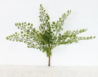 JennysFlowerShop 11'' UV Protected Maidenhair Fern Artificial Bush Indoor/Outdoor Greenery (7 Stems)