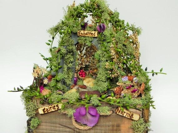 Items similar to enchanted fairy house fairy garden for Eco indoor garden house