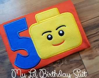 Lego Birthday Shirt Name can be added