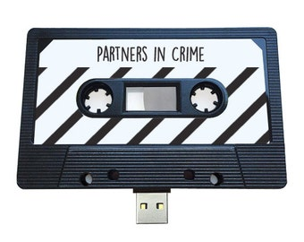 4GB/8GB/16GB USB Mix tape - Birthday , Partners in Crime- Boyfriend, Girlfriend, Bestfriend- Flash Drive, Retro Personalised Gift  Loved One