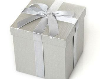 Metallic Silver Gift Box