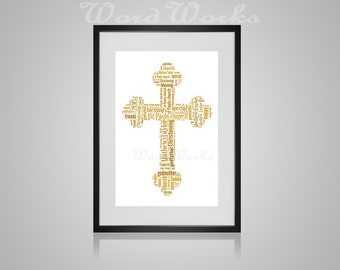 "Personalised Cross Word Art **Buy 3 prints get the 4th FREE**  Use coupon code "" MYFREEONE """