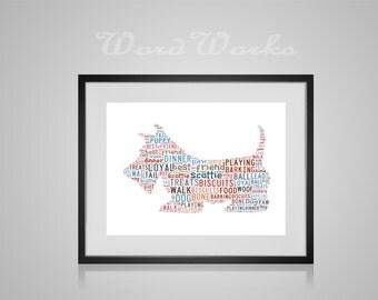 Personalised Dog Word Art (Any Breed of Dog can be made)