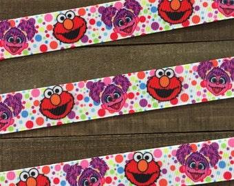 Elmo Ribbon, Sesame Street Ribbon, Zoe Ribbon, Elmo and Zoe