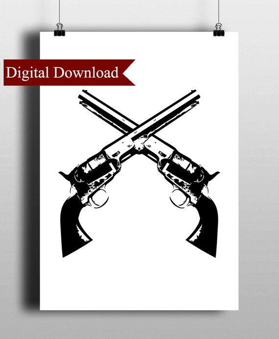 Items similar to Crossed Guns DIGITAL - 44.5KB