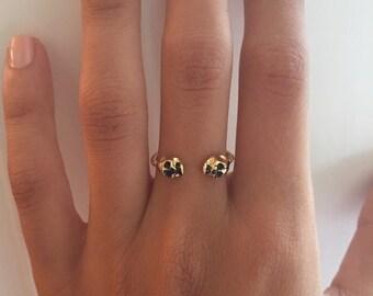 Adjustable Gold Skull Ring