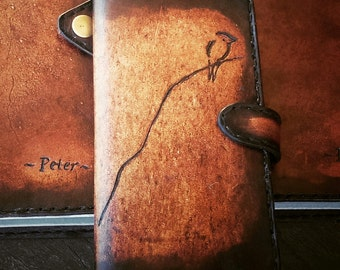 Leather phone case Handmade tooled leather iphone, Samsung, HTC