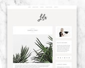 wordpress theme LOLA - responsive premade blog template - modern & minimalist design