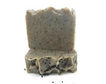 Black Cumin Seed + Raw Honey soap, black cumin soap, honey soap, handmade soap, black seed soap, Egyptian Black Cumin soap, best soap, soap