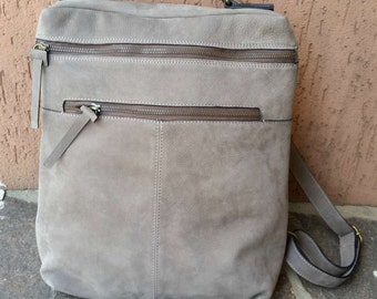 Rucksack brown leather