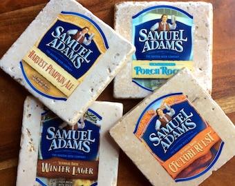 Sale! Sam Adams Beer Bottle Label Coasters